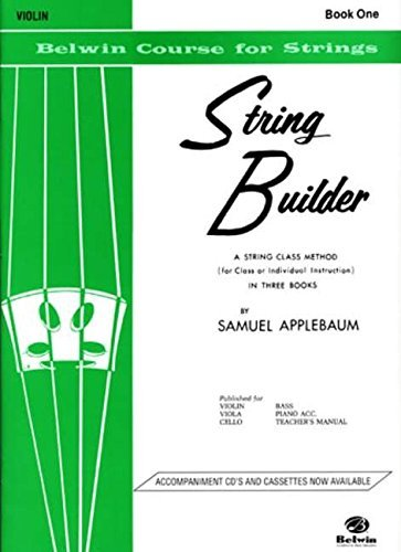 String Builder Violin Book One (Belwin Course for Strings ...
