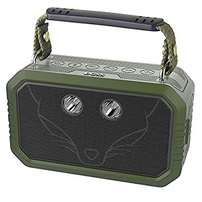 Waterproof Bluetooth Speaker, IP66 Waterproof Shockproof Dustproof DOSS Traveler Bluetooth speaker with 3W flashlight and 20W bold sound,12H Playtime,Handsfree,Perfect for outdoor[Olive Green] by Wonders Tech