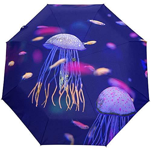 Unterwasser World Fish Aquarium Winddichte Regenschirme Auto Open Close 3 Faltbarer Sonnenschirm