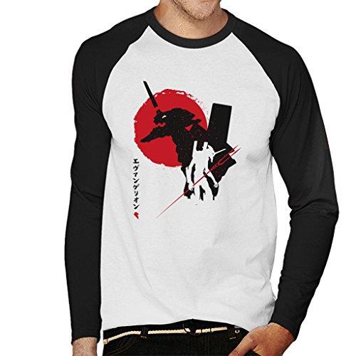 Neon Genesis Evangelion Japan Men's Baseball Long Sleeved T-Shirt