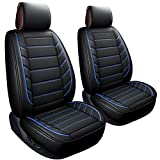 LUCKYMAN CLUB 2 Front Leather Seat Covers Fit for Jeep Wrangler Honda CRV Hrv Kia Optima Sportage Soul Forte...