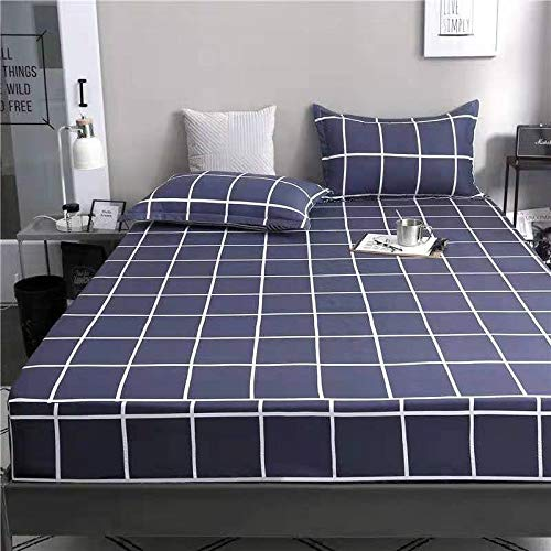 Colcha Individual/Doble/King Size/King 120x200cm / 135x200cm / 150x200cm tamaño Sábana Ajustable Sábanas de colchón Sábana de Hotel aplicable (Color : J, Size : 150x200cm)