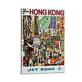 DWBG Hong Kong BOAC 1960er Retro Vintage Reise-Poster
