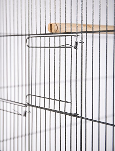 Product Image 2: Prevue Hendryx F050 Pet Products Wrought Iron Flight Cage, X-Large, Hammertone Black