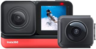 Insta360 ONE R Sports Video Adaptive Action Camera (Twin Edition) Bundle with 4K Wide Angle Lens 5.7K Dual Lens Stabilization IPX8 Waterproof Voice Control (Renewed)