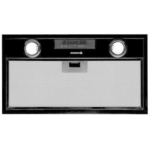 Rosieres RHG 580 PN Intégré Noir 750m³/h hotte - Hottes (750 m³/h, 70 dB, Intégré, Noir, 20 W, 2 ampoule(s))
