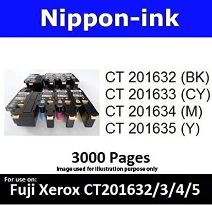 Nippon-ink CT201632 For Use on Fuji Xerox Laser Colour Toners - DocuPrint series: CP305d, CM305d and CM305df, Black