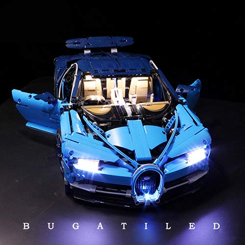 LED-Beleuchtungsset für (Bugatti Chiron) Model-Bausatz Kompatibel mit Lego 42083 (Modell nicht enthalten)