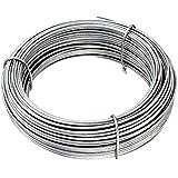 CF da 1PZ Filo di tensione zincato diametro Ø 2,2 mm matassa da 100 MT grigio per rete e recinzioni CARTOMATICA