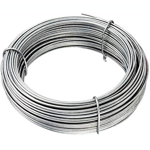 Filo di tensione zincato diametro Ø 1,5 mm matassa da 100 MT grigio per rete e recinzioni CARTOMATICA Confezione da 1PZ