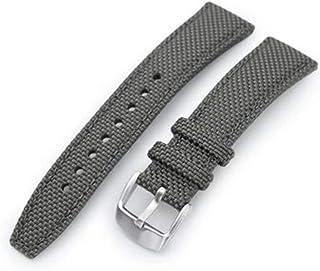 Cinturino per orologio in tessuto con cinturino 20mm, 21mm o 22mm Cinturino per orologio grigio militare in nylon intrecci...