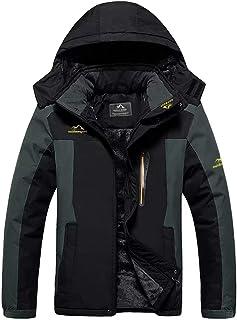 Men's Winter Coat Ski Jacket Waterproof Fleece Lined Windproof Warm Snow Jacket With..