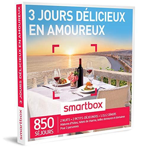 SMARTBOX - Coffret Cadeau - 3 JOURS DÉLICIEUX EN AMOUREUX - 350 Séjours : Maisons d'Hôtes, Hôtels de Charme, Auberges, Hôtels 3 ou 4