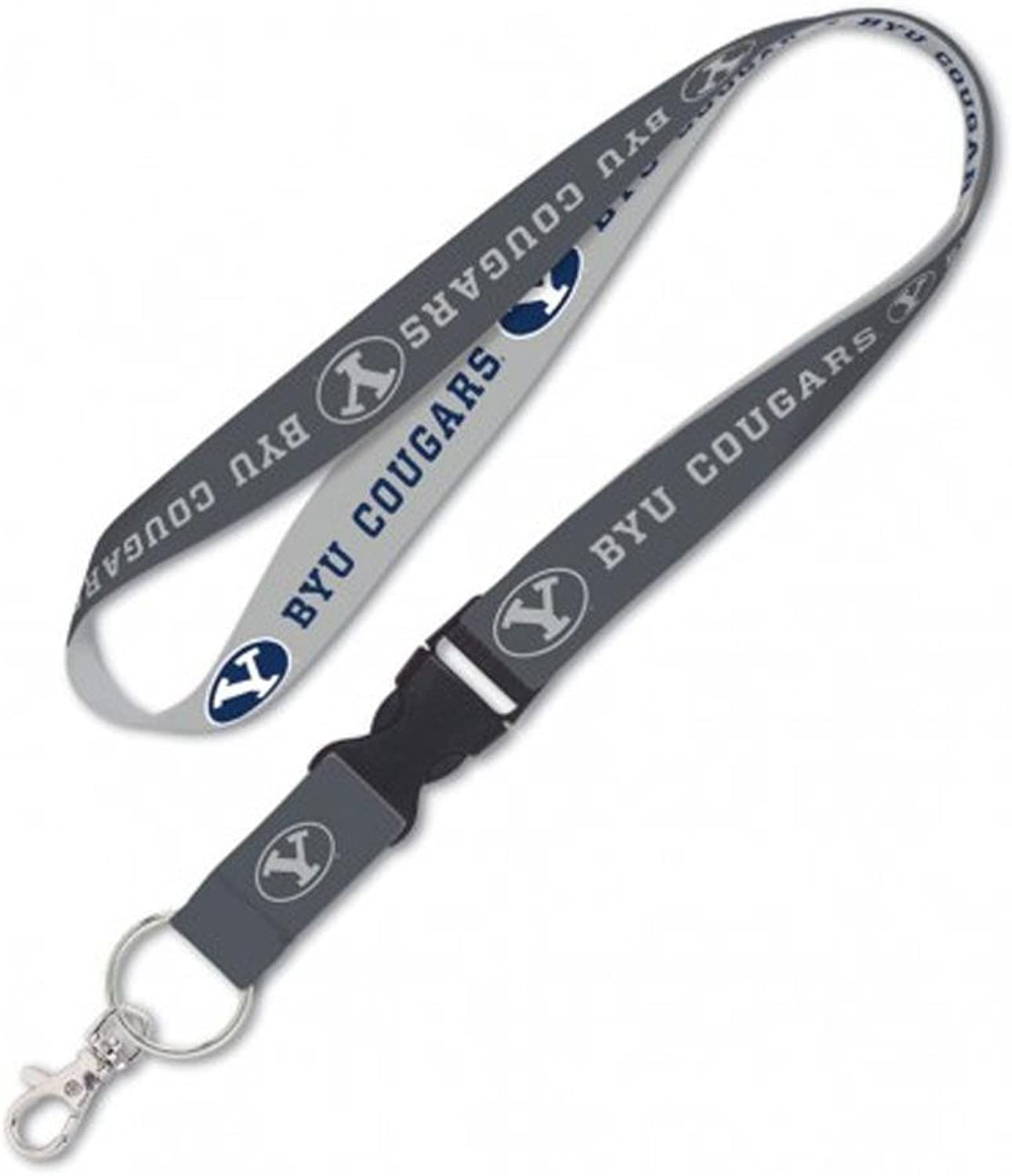 Brigham Young Cougars BYU Premium Lanyard Keychain W  Detachable Buckle, 23 inches long, 1 inch wide