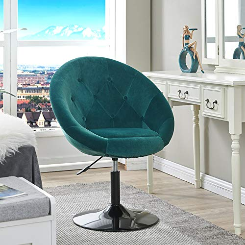 Vanity Stool Cushioned with Back,Vanity Stool Modern Lounge Round Edge Chair for Girl's Room, Makeup Dressing Table and Beauty Salon