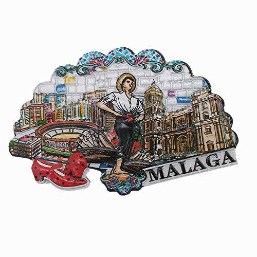 Imán 3D de Málaga Andalucía, España, para nevera, recuerdo de viaje, regalo para el hogar, cocina, decoración de refrigerador, colección de manualidades