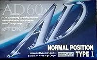 TDK カセットテープ AD 60分 冴えわたる高音 AD-60A