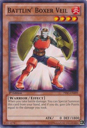 YU-GI-OH! - Battlin39; Boxer Veil (PRIO-EN009) - Primal Origin - 1st Edition - Common