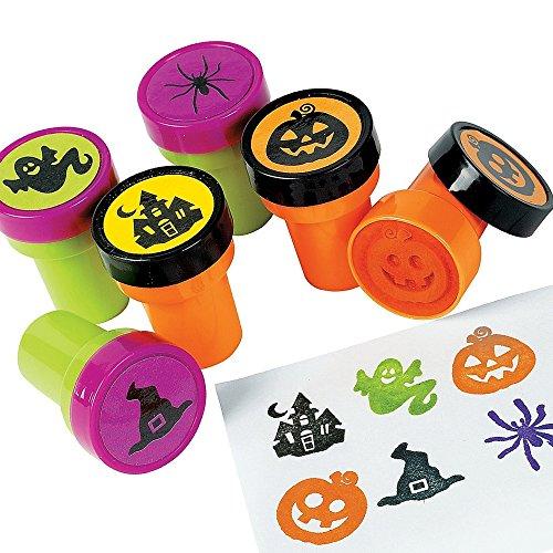 Elfen und Zwerge 6 x Stempel Halloween Spinne Kürbis Schloss Hexe Geist Gespenst Kinderstempel Mitgebsel Halloweenparty