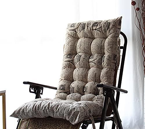 Lingxiya, comodo cuscino per sdraio, per patio, giardino, per interni ed esterni, per vacanza, cuscino reclinabile resistente con laccetto di fissaggio antiscivolo