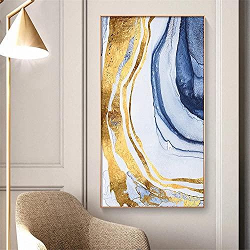 DIY 5D Kits de Pintura de Diamantes Color dorado que fluye Adultos Pintura Diamante Taladro Completo Rhinestone Bordado Punto de Cruz Artesanía,para el hogar Decoración de la Pared Regalo 70x140cm