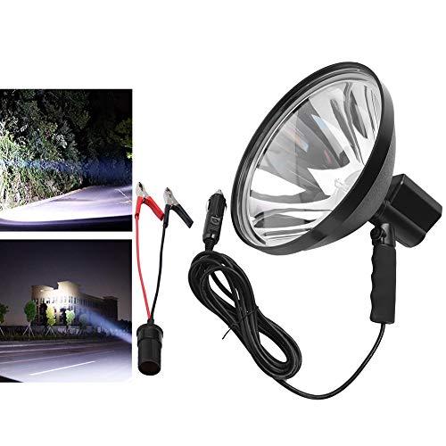 Riuty Focos de Mano HID, Acampada Potente de 100W 12V LED Foco de Caza HID Foco de luz Foco de Trabajo Foco de Tiro al Aire Libre LED Buscando Luces portátiles