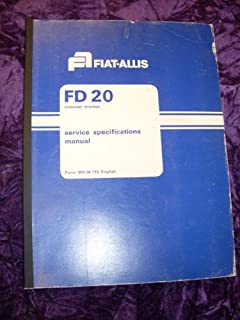 Fiat Allis FD20 Specifications OEM Service Manual