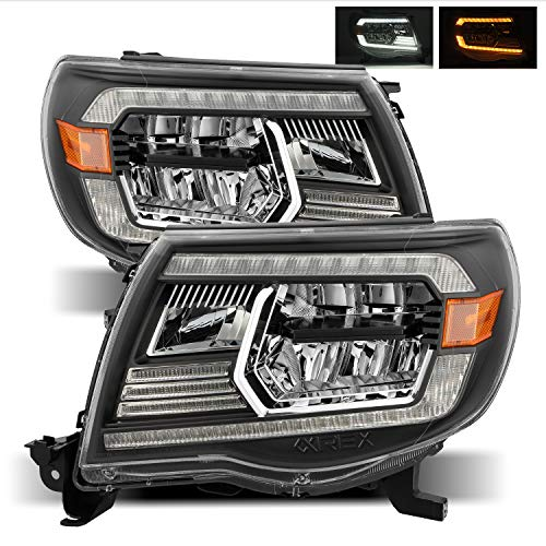 Alpharex Black For 05-11 Tacoma LED CRYSTAL Headlights left right assembly replacement