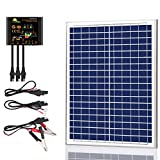 SUNER POWER 20 Watts Poly Crystalline 12V Solar Panel Kits - Waterproof 20W...