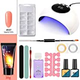 Juego de brochas de maquillaje para lámpara UV de 24 W, con tecnología de gel de alta velocidad, para extender rápido, económico y práctico