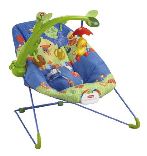 Baby Gear - Hamaca Patito Musical, Juguete con Sonido (Mattel X3843)