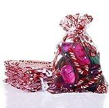 Naler 20 Bolsas Organza Bolsitas Tul Bastones de Caramelo para Joyas Caramelo...