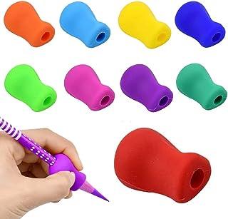 10ピース シリコン ペンシルグリップ 鉛筆グリップ 筆圧 疲労を軽減 鉛筆グリップ 鉛筆セット 面白い勉強セット 握り方矯正 正しい持ち方 近視も避けることができます