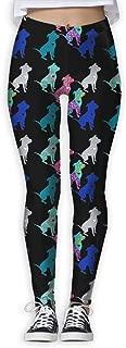 colorful pitbull leggings