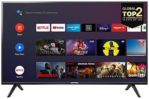 TCL 32ES561 Fernseher 80 cm (32 Zoll) Smart TV (HD, Triple Tuner, Android TV, Prime Video, HDR, Micro Dimming, Dolby Audio, Google Assistant) Schwarz