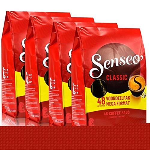 Senseo Kaffeepads Regular / Klassisch, Intensiver & Vollmundiger Geschmack, Kaffee, neues Design, 4er Pack, 4 x 48 Pads, 192 Portionen