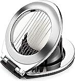 WISMURHI Tagliauova, con 2 in 1 Dischi di Metallo Resistenza Cunei Utensili da Cucina per Uova separatore per Uova in Filo di Acciaio Inox 304 Egg Slicer Splitter Chopper FHU34