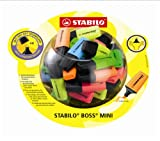 Evidenziatore Textmarker Boss-Mini contenitore in vetro, confezione da 50 pezzi, 5 colori