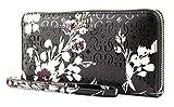 Guess Tamra SLG Large Zip Around Black Floral