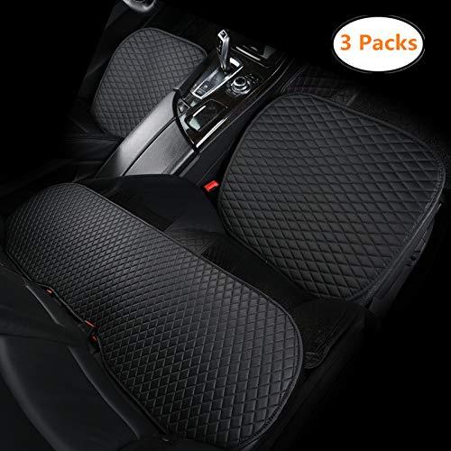 HONCENMAX Auto Sitzauflage Sitzbezüge Sitzkissen Autoabdeckung Auto Sitzauflagen - rutschfest[Ohne Rückenlehne] - 2 Vordersitzbezüge und 1 Rücksitzbezug