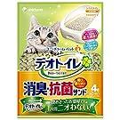 デオトイレ 1週間消臭・抗菌 飛び散らない消臭・抗菌サンド 4L×4個 (ケース販売)