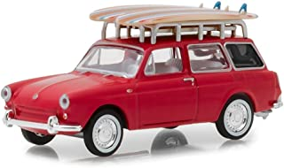 1962 Volkswagen Type 3 Squareback with Roof Rack and Surfboards Red The Hobby Shop Series 5 1/64 Diecast Model Car by Greenlight 97050 A