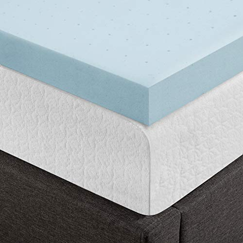 Best Price Mattress, 4 Inch Gel Memory Foam Mattress Topper/Mattress Pad, Certipur-US Certified, King