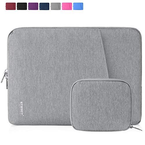NEWHEY Laptophülle 14 Zoll Stoßfest Laptop Notebook Tasche Hülle Wasserdicht Schutzhülle Sleeve Case Kompatibel 13-14 mit Klein Fall Grau