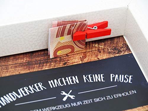 Geldgeschenk Verpackung Mann Werkzeug Gutschein Geschenk Geburtstag Baumarkt Renovieren Hobby - 4
