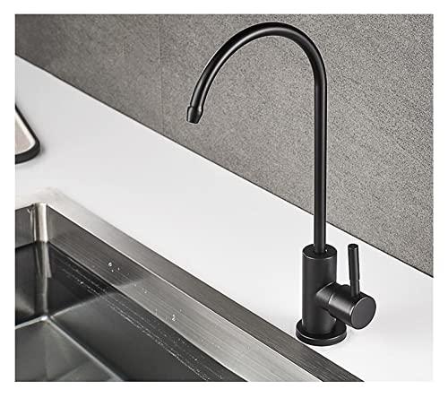 CAIFEIYU Rubinetti da Cucina Neri rubinetti diretti for Il Rubinetto for Il Filtro dell' Acqua della Cucina Acciaio Inossidabile Ro. Purificare l' osmosi inversa del Sistema (Color : RY10-B)