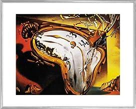 1art1 Salvador Dali Póster Impresión Artística con Marco (Plástico) - Les Montres Molles (50 x 40cm)