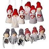 anaoo 12pcs Adornos decoración Colgante muñecos Papá Noel para árbol de Navidad decoración de Fiesta de Navidad-Merry Xmas Regalo