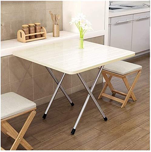 Sólido mesa plegable de mad era Este plegable mesa de comedor for uso doméstico plegable simple Pequeño vector al aire libre Textura clara portátil, estilo simple Capacidad de carga del fuerte adecuad