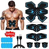 Tenswall Abs Trainer, EMS Muscle Stimulator, Ab Belt Toning with USB Rechargeable, Fitness Training Gym Workout Machine For Men & Women…